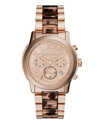 Cooper Rose Golden Tortoise-Link Watch