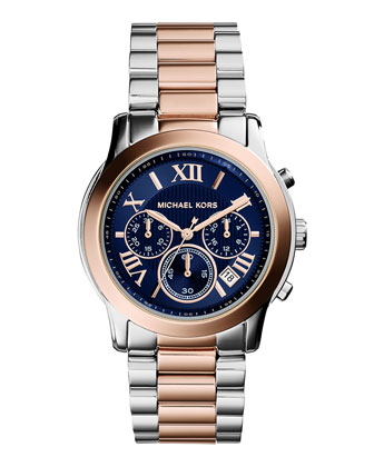 Cooper Two-Tone Watch, Silver/Rose Golden
