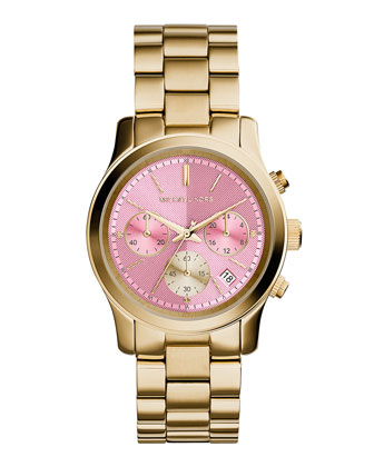 Runway Golden Stainless Steel Watch