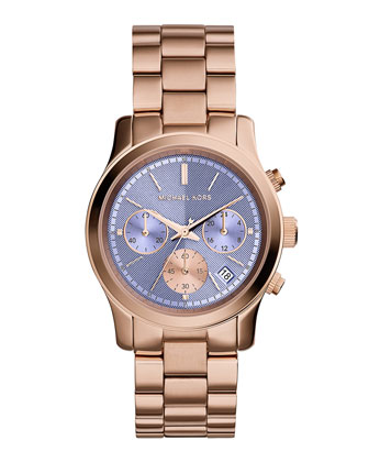 Runway Rose Golden Stainless Steel Watch