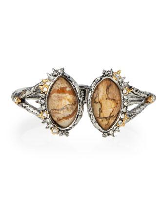 Spur-Trimmed Jasper Hinge Bracelet