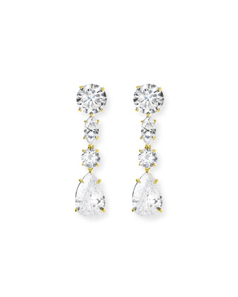 Linear CZ Drop Earrings