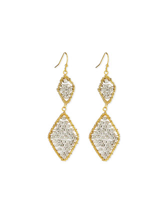 Beaded Double-Drop Earrings