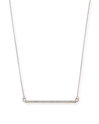 Micro-Pave Crystal Bar Necklace
