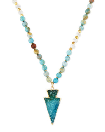 Beaded Arrowhead Pendant Necklace