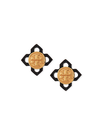 Babylon Resin Logo Stud Earrings