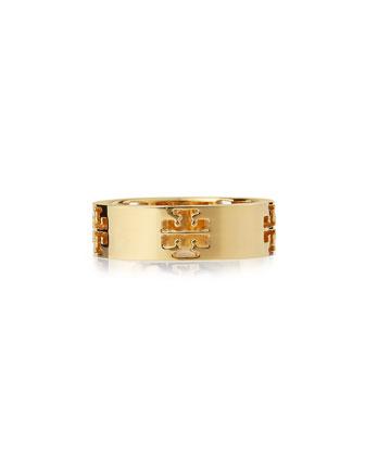 Pierced-T Logo Band Ring