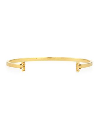 Skinny Serif T-Logo Cuff Bracelet