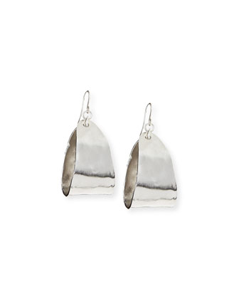 Mini Rhodium-Plated Teardrop Hoop Earrings