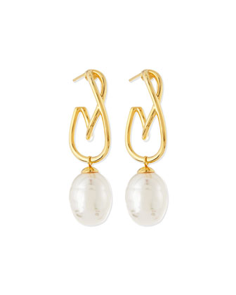 Baroque Pearl Twisted Drop Earrings