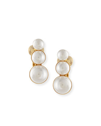 Lana Pearly Clip-On Earrings