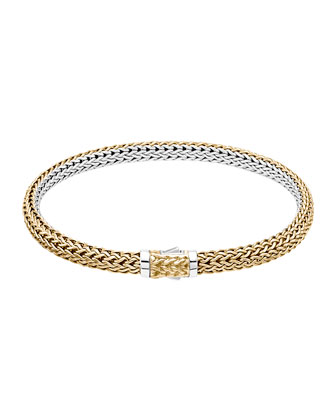 Classic Chain Gold & Silver Extra-Small Reversible Bracelet