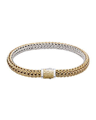 Classic Chain Gold & Silver Small Reversible Bracelet