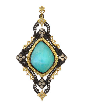 Blue Turquoise Cravelli Scroll Enhancer