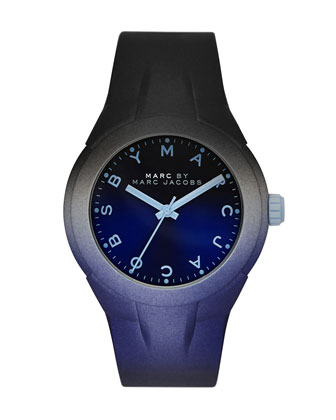 38mm X-Up Ombre Watch, Black/Blue