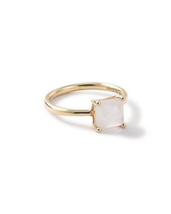 18k Rock Candy Square Stone Ring