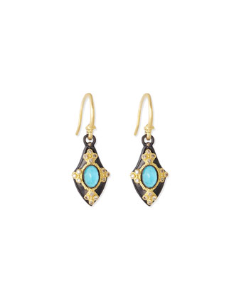 Petite Shield Drop Earrings