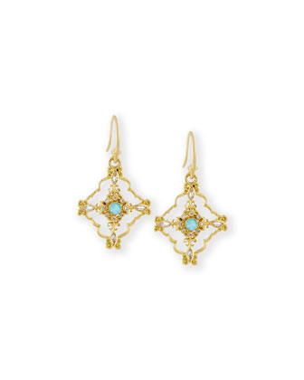 Sueno 18k Gold Open Scroll Earrings