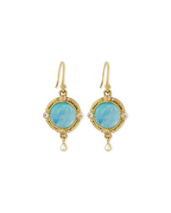 Moonstone Doublet Drop Earrings