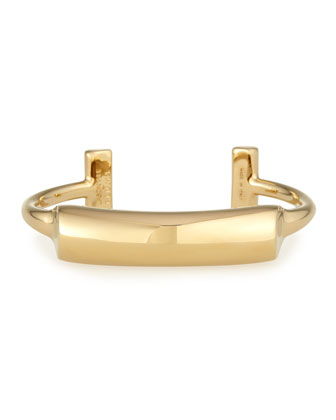 Lauren Gold-Plated Bar Cuff Bracelet