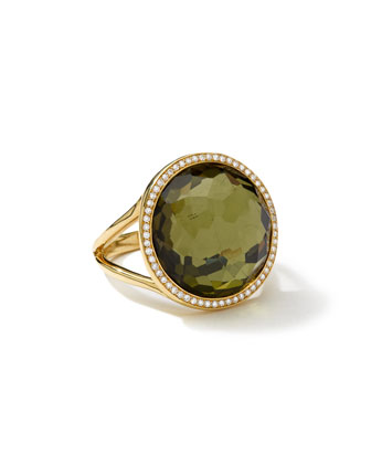 18k Rock Candy Lollipop Ring in Citrine/Pyrite Doublet