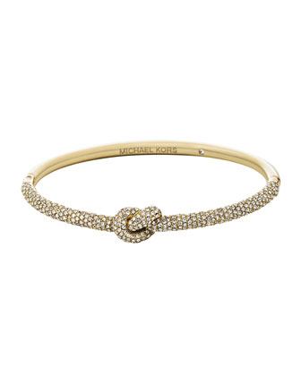 Pave Knot Hinge Bangle