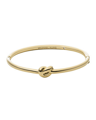 Smooth Knot Hinge Bangle