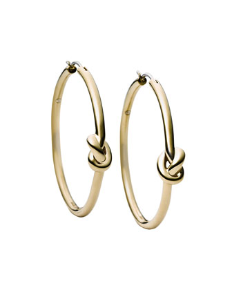 Smooth Knot Hoop Earrings