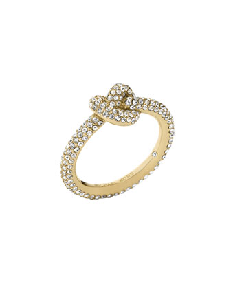Pave Glass Knot Ring