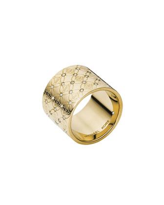 MK Pave Monogram Ring