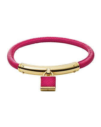 Leather Padlock Bracelet