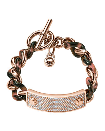 Twisted Pave Plaque Bracelet