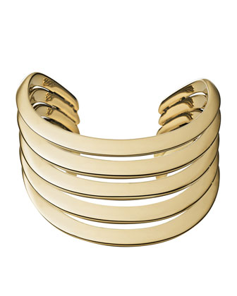 Golden Open Statement Cuff