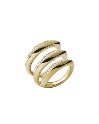 Golden Pave Statement Ring