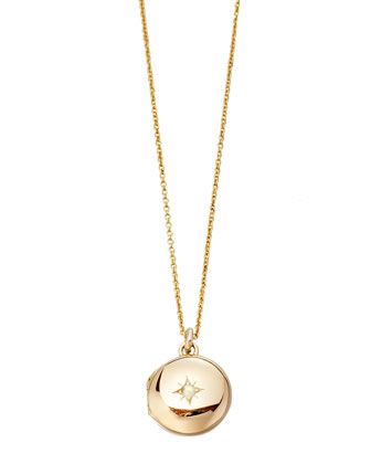 14k Gold Little Astley Locket Necklace