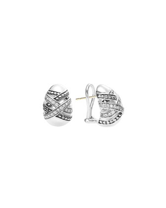 Embrace Silver Diamond Earrings