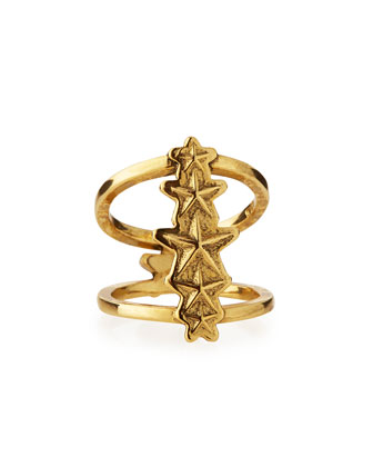 Ursa Minor Gold-Plated Ring