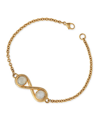 Infinite Gold-Plated Moonstone Bracelet