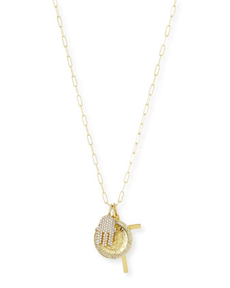 Spiritual Gold Vermeil & Diamond Charm Necklace