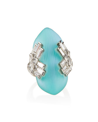 Brilliant-Cut Lucite Cocktail Ring