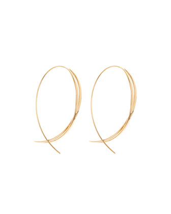 Large Twist Upside Down Hoop Earrings