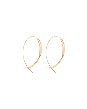 Small Twist Upside Hoop Earrings