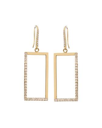 14k Illusion Diamond Earrings