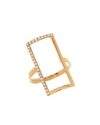 14k Illusion Diamond Ring