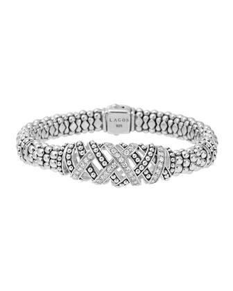 Embrace Silver 3-Station Diamond Bracelet