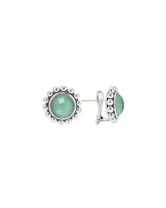 Maya Silver Variscite Earrings