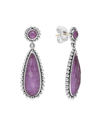 Maya Silver Charoite Teardrop Earrings