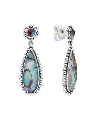 Maya Silver Abalone Teardrop Earrings