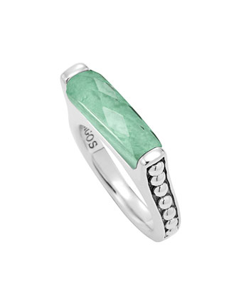 Maya Silver Variscite Stackable Ring, Size 7
