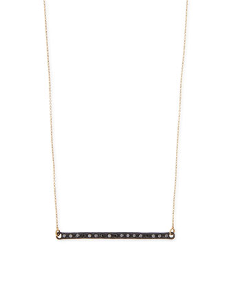 Midnight Black Diamond Bar Necklace